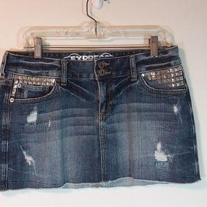 Express Jeans Denim Mini Skirt